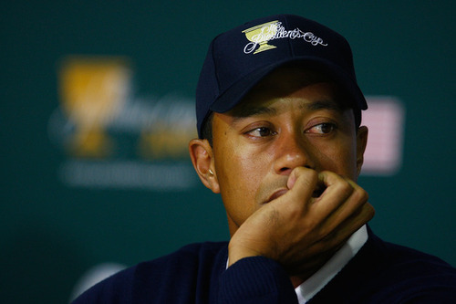 Tiger Woods meets with reporters to discuss his devastating 17th consecutive Master's win